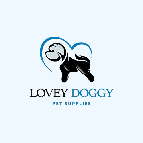 Veterinary logo with the title 'LoveyDoggy'