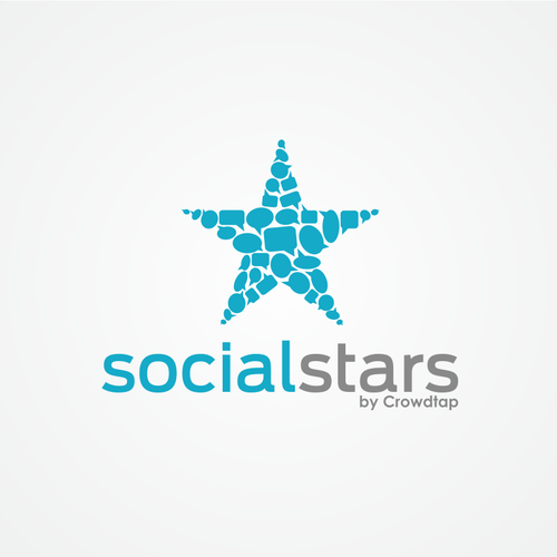 Speech bubble logo with the title 'Star logo concept'
