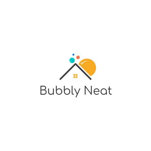 Toilet logo with the title 'Bubbly Neat'