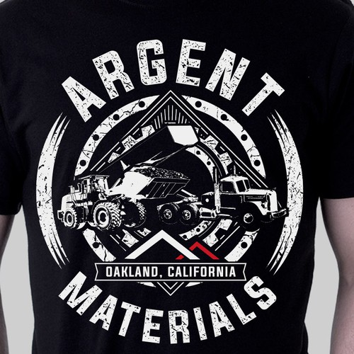 Construction t-shirt with the title 'Argent Materials'