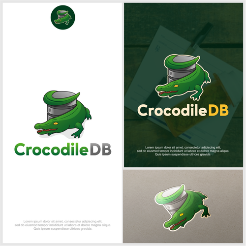 Alligator logo with the title 'Crocodile Data Base'