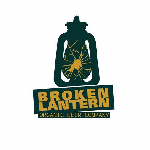 Broken design with the title 'Broken Lantern Organi Beer Company logo suggestion'