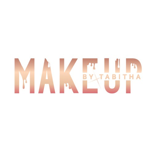Rose gold logo with the title 'Bold Logo for Makeup Artist '