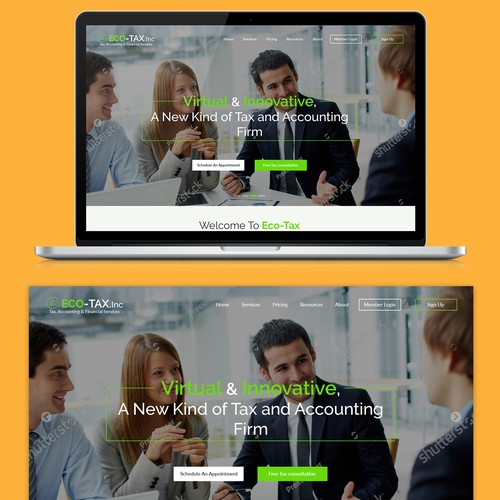 Classy website with the title 'Nice and Simple Corporate website'