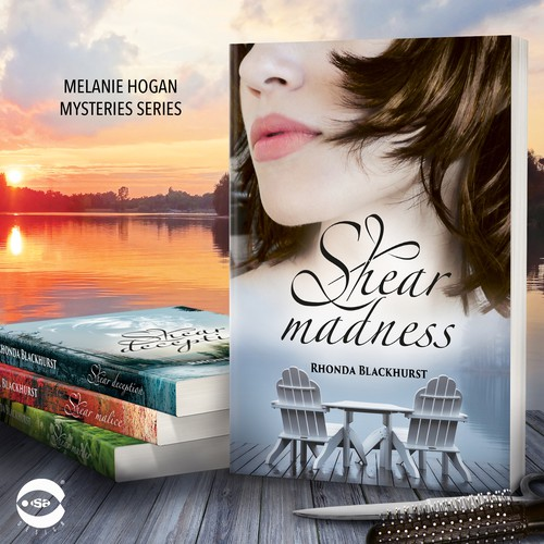 """Adventure design with the title 'Book cover for """"Shear Madness"""" by Rhonda Blackhurst'"""