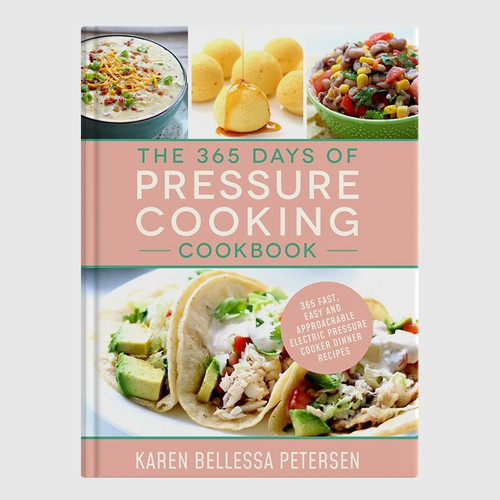 Recipe book cover with the title 'Design a cute cookbook cover for an Instant Pot recipe book'