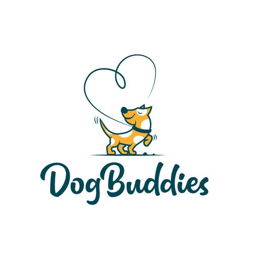 Adorable design with the title 'Dog Buddies'