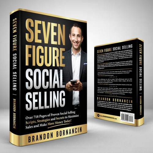 Typography book cover with the title 'Seven Figure Social Selling'