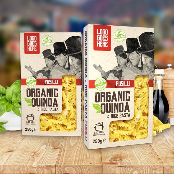 Pasta packaging with the title 'Concept for Bolivian pasta'