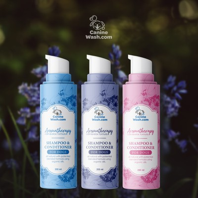 Dog aromatherapy shampoo label