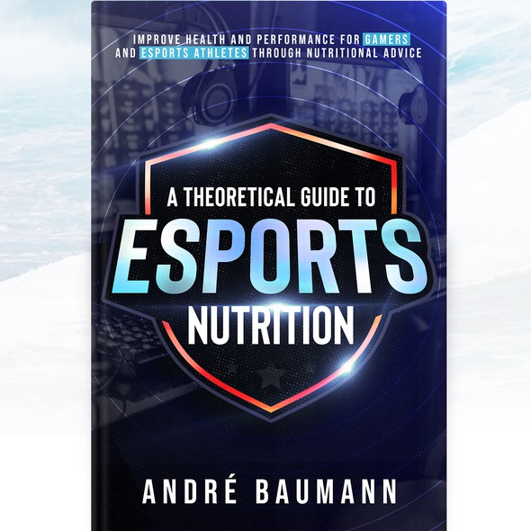 Esports design with the title 'Esports health book cover'