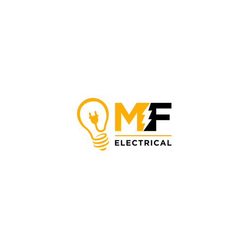 Black and yellow logo with the title 'MF ELECTRICAL'