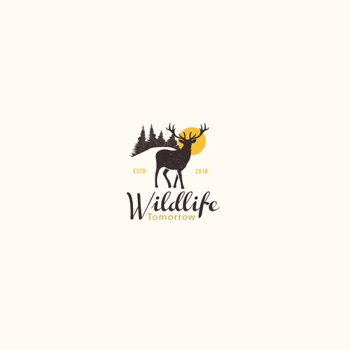 Pine tree logo with the title 'Wildlife Logo'