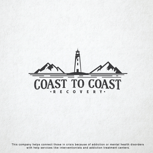 Lighthouse logo with the title 'Logo for recovery center'