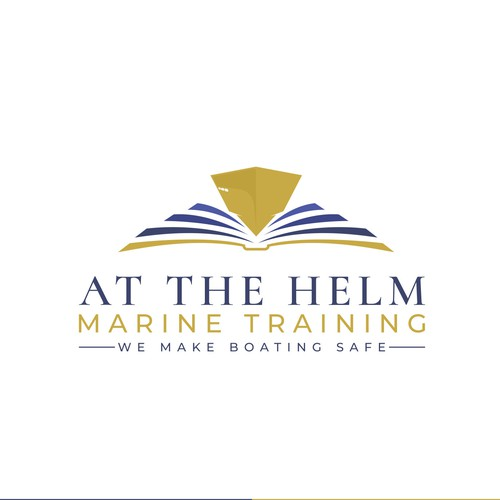 Maritime design with the title 'A logo for marine and boat training'