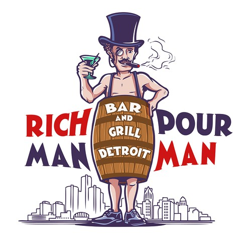 Gentleman logo with the title 'Rich Man Pour Man'