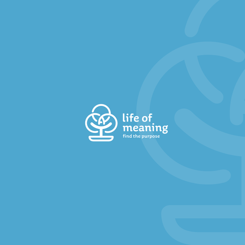 "Bonsai design with the title 'Life Of Meaning - a free ""Duolingo"" style platform for finding the purpose of your life.'"