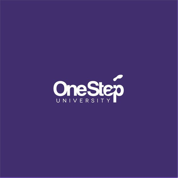 Footprint logo with the title 'EFFICIENT LOGO FOR ONESTEP UNIVERSITY'