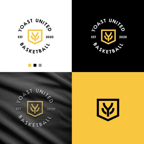 Basketball logo with the title 'Yoast United'