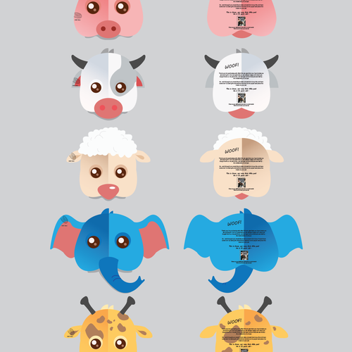 Friendly artwork with the title 'Animal Mask Illustrations'