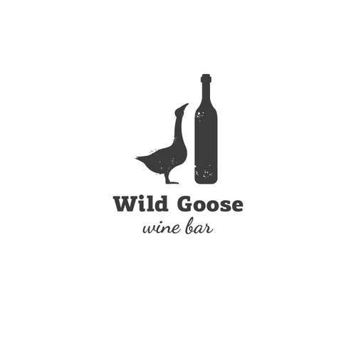 Flying goose logo with the title 'Logo for Wine Bar'