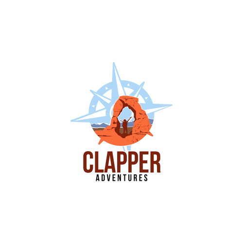 Climbing logo with the title 'Adventures'