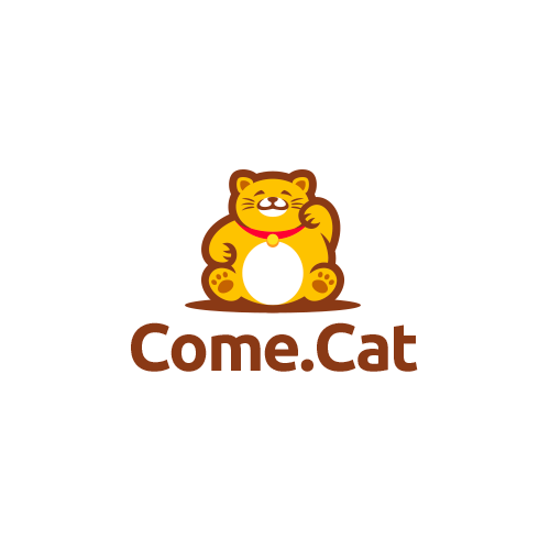 Cat logo with the title 'Come.Cat'