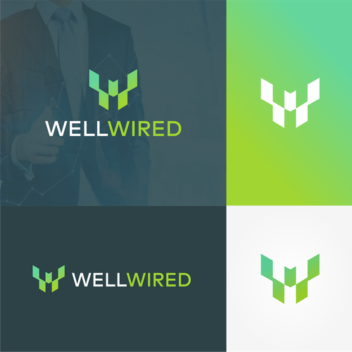 Commercial logo with the title 'Well Wired'