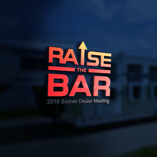 Creative design logo with the title 'Raise the Bar'
