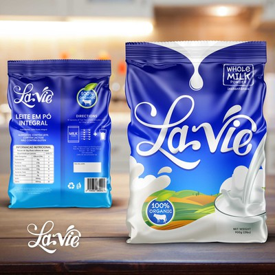 Packaging Design for La Vie Whole Milk Powder