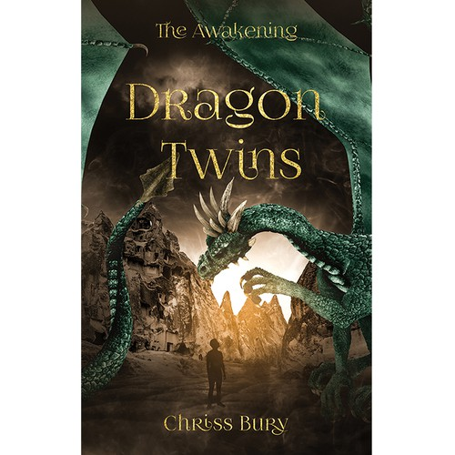 Amazon book cover with the title 'Dragon Twins'