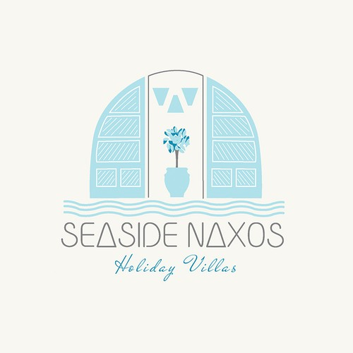 Greek logo with the title 'logo for seaside naxos'