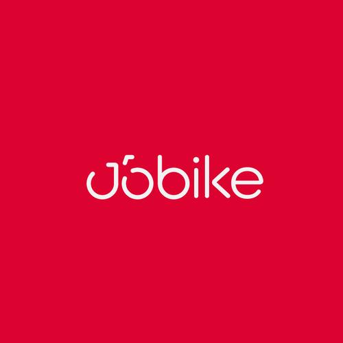 Type design with the title 'Bike sharing app logo, JoBike'