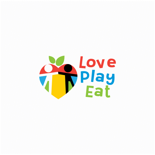 Nutritionist logo with the title 'Love  Play  Eat'