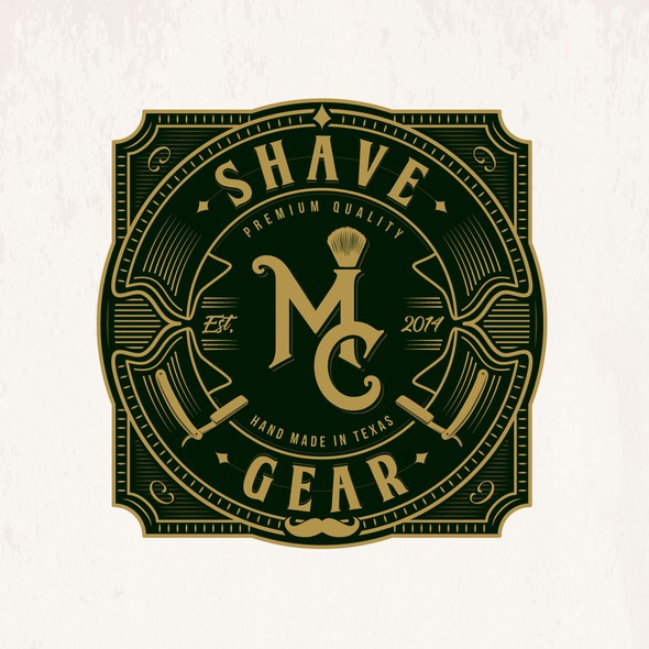 Shaving logo with the title 'MC Shave Gear'