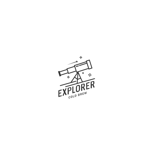 Telescope logo with the title 'Explorer Cold Brew'