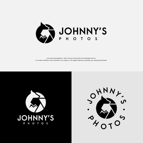Shutter design with the title 'Jonhnny's Photos'