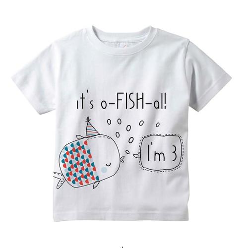Birthday design with the title 'Kids birthday t shirt design'