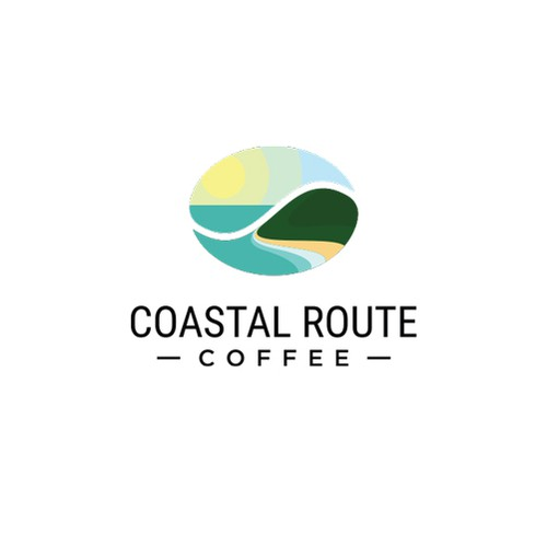 Coastal logo with the title 'Logo concept for Coastal Route Coffee'