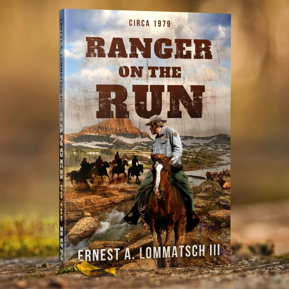Western book cover with the title 'Ranger on the Run'