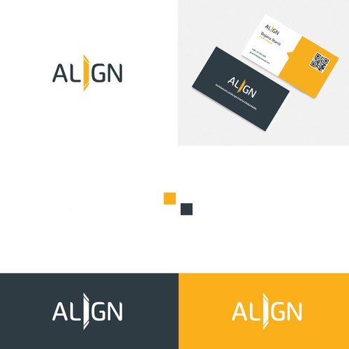Yellow and gray design with the title 'Architecture office logo'
