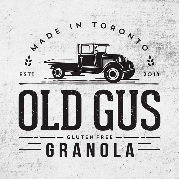 Ford design with the title 'Logo with illustration of vintage Ford truck'