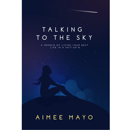 Night sky design with the title 'BOOK COVER'