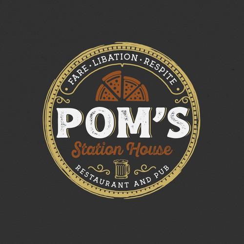 Pub logo with the title 'Logo design'