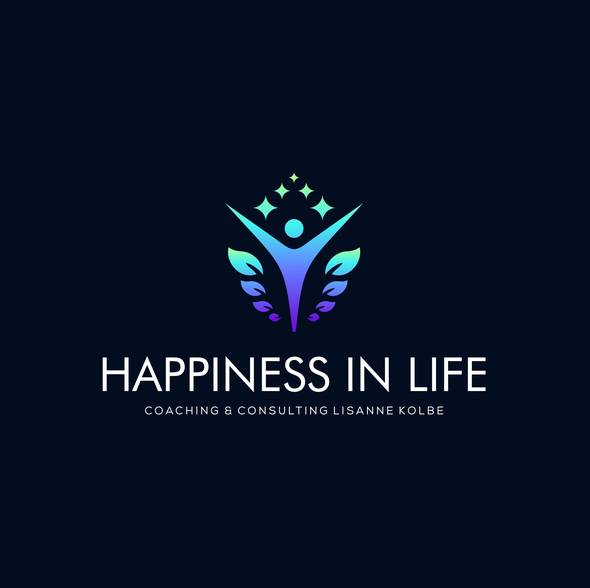 Humanity logo with the title 'Happiness In Life | Happy logo | Happiness Logo | Wellness Logo || '