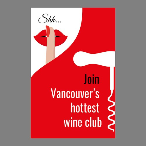 Silhouette artwork with the title 'Wine club poster'
