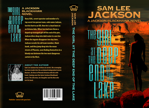 Arizona design with the title 'Book Cover: Thriller'