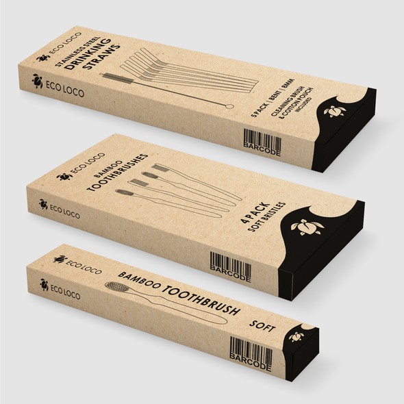 Branded packaging with the title 'Eco Packaging'