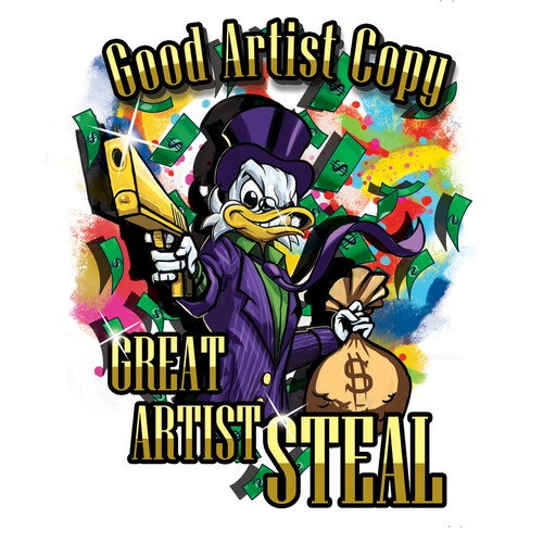 Gangster design with the title 'scrooge mcduck'