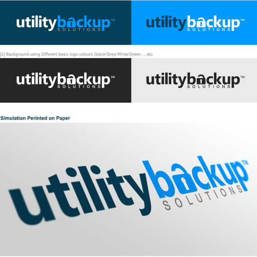 Lock logo with the title 'Utility Backup Logo'